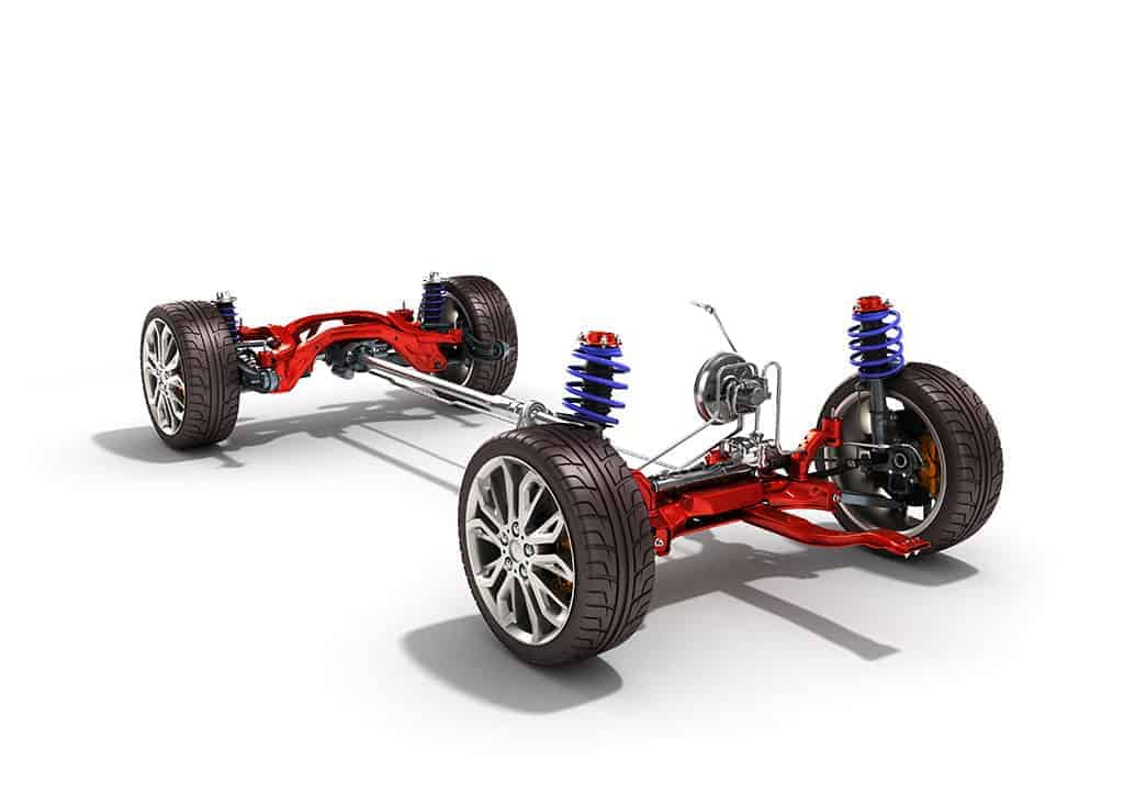 Illustration of a Car's Suspension